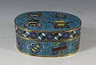 CHINESE CLOISONNE BOX AND COVER C1800