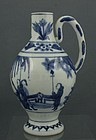 JAPANESE ARITA BLUE AND WHITE EWER L17THC