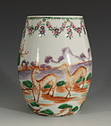 Chinese Famille Rose Export Tankard C1770/80