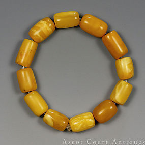 1920s ART DECO EGG YOLK BUTTERSCOTCH AMBER BRACELET