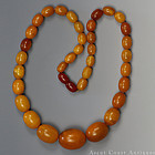 33.3 g EGG YOLK BUTTERSCOTCH BALTIC AMBER NECKLACE