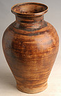 Sankampaeng Thai Pottery Brown Glazed Jar