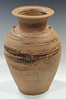 Thai Stoneware Light-Brown Glazed Jar