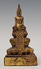 19th Century, Thai Wooden Seated Buddha