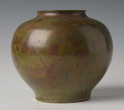 Early 20th C Showa Japanese Bronze Vase Item 1354702