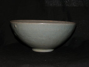 A Korean celadon moulded bowl. Koryo period, 12th c.