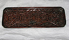 A Chinese 'tixi' lacquer rectangular tray.
