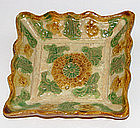 A Chinese moulded dish. Liao Dynasty.