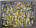 Eve Peri Modernist Abstract Oil on Canvas