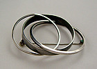 Bill Tendler Modernist Sterling Silver Circle Brooch