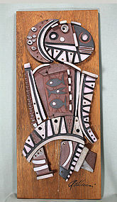 Raymond Gallucci Ceramic Collage Tile Sculpture
