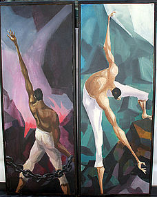 Ron Dembosky Cubist Figurals - Mid Century