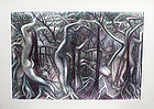 Ross Braught Modernist Surrealistic Figural Landscape
