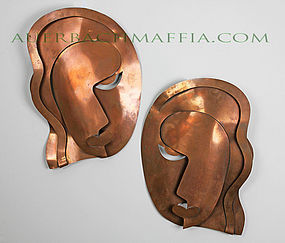 Rebajes Modernist Wall Masks - 1950's