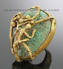 Pal Kepenyes Modernist Brass/Bronze Ring Erotica