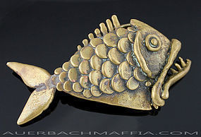 Carl Tasha Modernist Fish Buckle 1970 Provincetown