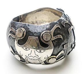 Graziella Laffi Sterling Silver Hinged Bracelet Peru
