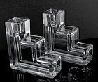 Art Deco Wilber Orme Candle Holders Cambridge Glass 1930