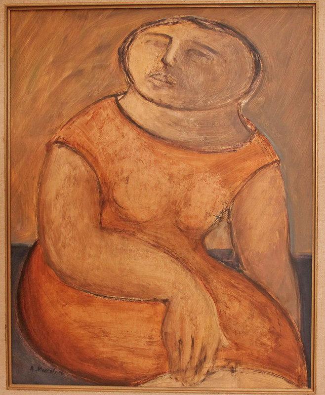 Arnaldo Miccoli Italian American Modernist Oil on Panel