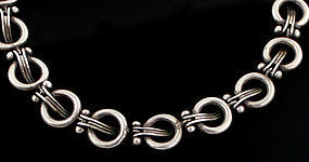 BETO Mexican Modernist Sterling Necklace 1950