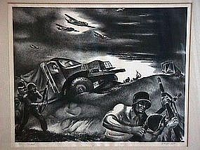 G. Ralph Smith WPA Modernist Lithograph