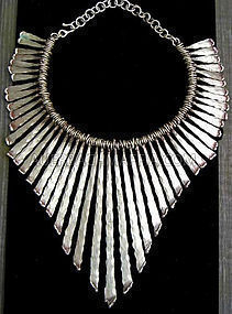 Pal Kepenyes - Monumental Modernist Silver Necklace