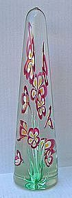 Fratelli Toso Murano Art Glass Obelisk - 14 3/4