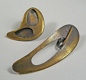 "Art Smith Modernist ""PATINA"" Earrings"