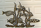 Jim Gary Wall Sculpture Modernist Mid Century Folk Art