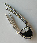 Betty Cooke Vintage Modernist Sterling Deco Brooch