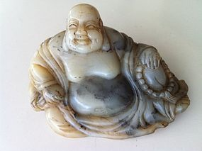 Chinese Jade stone Laughing Buddha