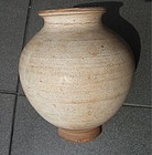 Chinese cream white glaze jar