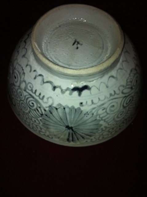 Chinese Blue and white flora bowl