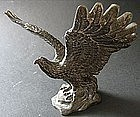Old Brass Eagle Table Object D