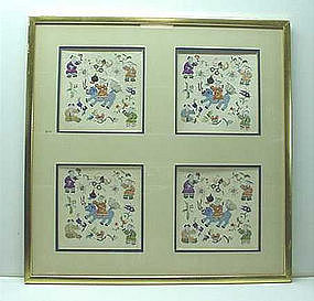 EARLY 20TH C. CHINESE EMBROIDERY (FRAMED)