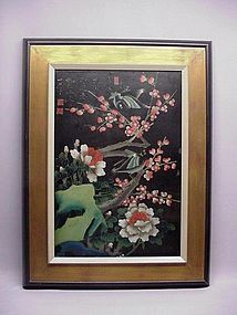 CHINESE LATE 19TH C. REVERSE GLASS PAINTING