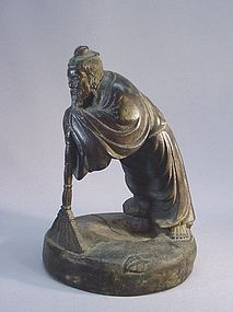 CHINESE BAMBOO CARVING OF A SAGE