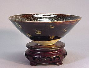 JAPANESE TENMOKU STYLE CHAWAN (TEA BOWL)