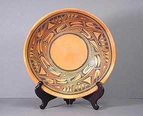 Hopi Low Bowl by Marcella Kahe