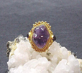 CHINESE AMETHYST ADJUSTABLE RING