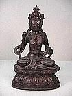 Nepal 18th Century Bronze Buddha Statue