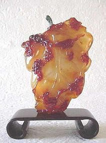 CHINESE CONTEMPORARY AGATE SNUFF BOTTLE