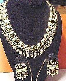 "Judith Leiber ""Mayan""  Necklace + Earring Set"