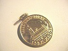 14k Copenhagen Commemorative Coin Charm