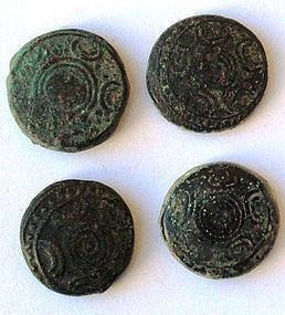 4 BRONZE COINS OF ALEXANDER THE GREAT
