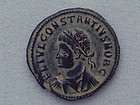 A ROMAN BRONZE FOLLIS OF CONSTANTINE II