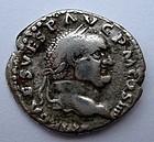 A ROMAN SILVER DENARIUS OF VESPASIAN