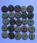 A LOT OF 25 UNCLEANED PROVINCIAL ROMAN BILLON COINS