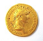 A ROMAN GOLD AUREUS OF TRAJAN