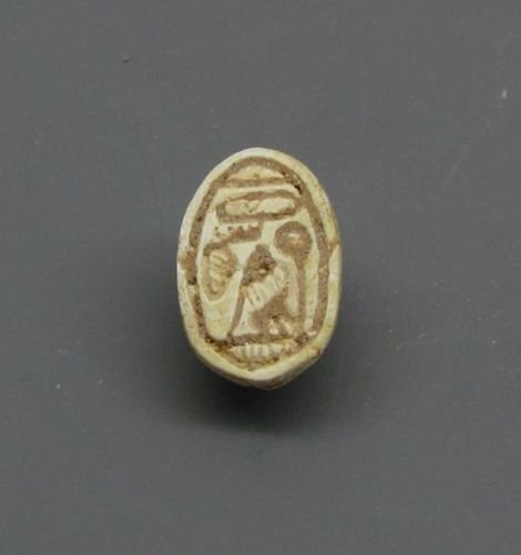 A CANAANITE STEATITE SCARAB SEAL